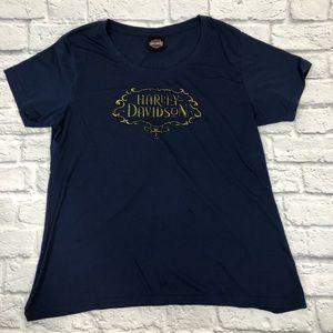 Harley Davidson T-shirt. 3XL. Navy Blue